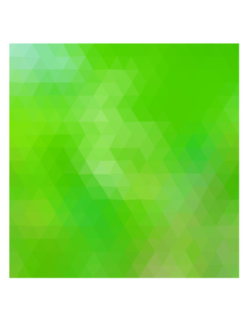 Colored polygonal illustration consist of triangles. Triangular design. Green colors.