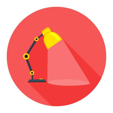 flexible business: desk light lamp icon Illustration