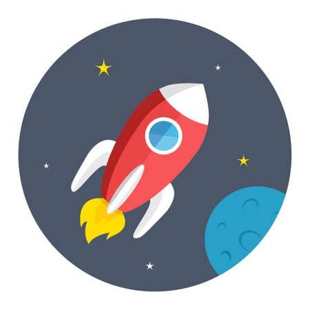 spacecraft: spacecraft icon Illustration