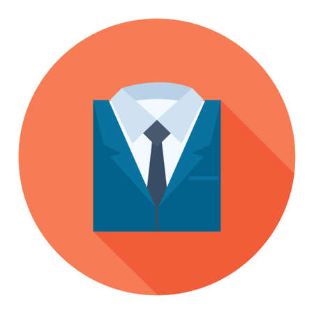 businessman suit: professional suit icon Illustration