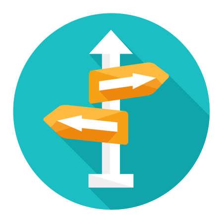 flecha direccion: dirección encrucijada, icono