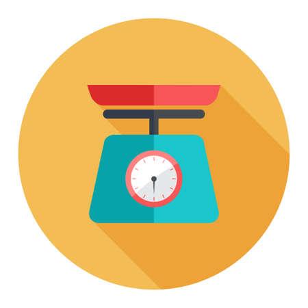 signos de pesos: icono de la escala de peso Vectores