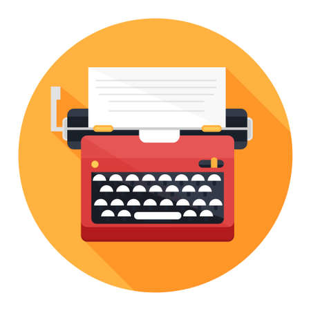 typewriter machine: typewriter icon Illustration