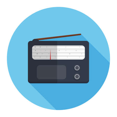 retro radio: radio icon