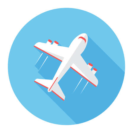 commercial airline: Airplane icon Illustration