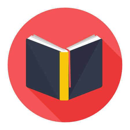 school book: book icon Illustration