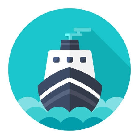 ship sign: ship icon Illustration