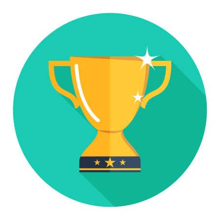 trofeo: oro taza del trofeo Icono Vectores