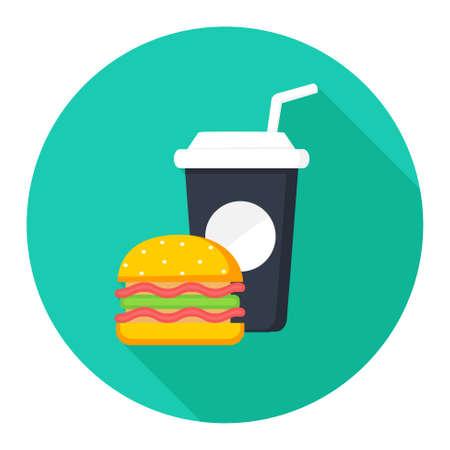 comida chatarra: icono de la comida chatarra Vectores