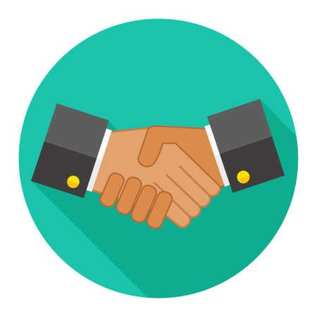 saludo de manos: acuerdo, icono de apret�n de manos Vectores