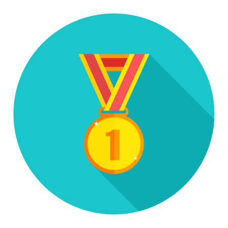win medal icon Illustration