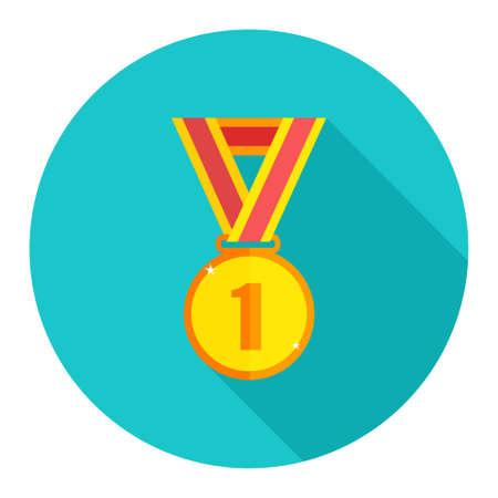 winning: win medal icon Illustration