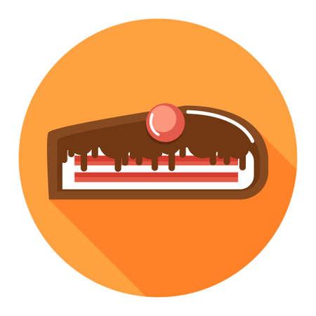 chocoladetaart dessert icon