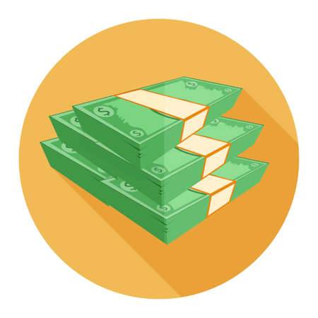 cash: dollar cash coins icon Illustration