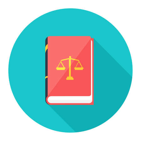 law books: law book icon Illustration