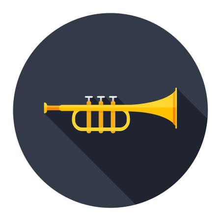 trumpet isolated: trumpet icon Illustration