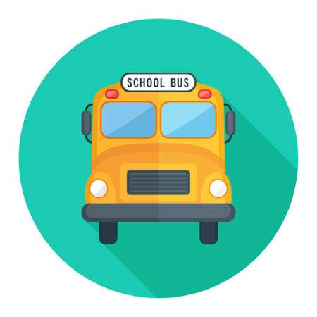 schoolbus: school bus icon Illustration