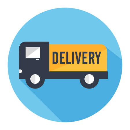 fast delivery: delivery truck icon Illustration
