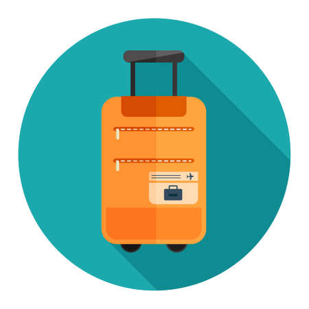 trolley case: travel luggage icon