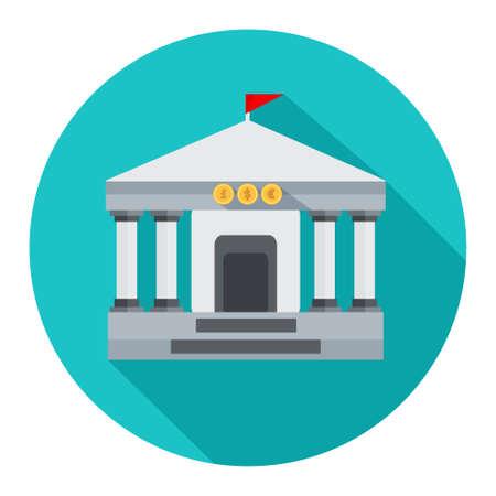 Bank building icon  イラスト・ベクター素材