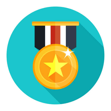win win: win medal icon Illustration