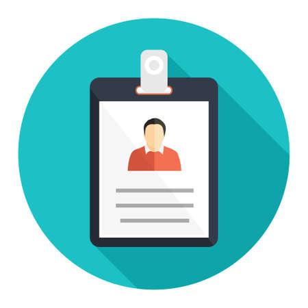 identification card: id cards icon Illustration
