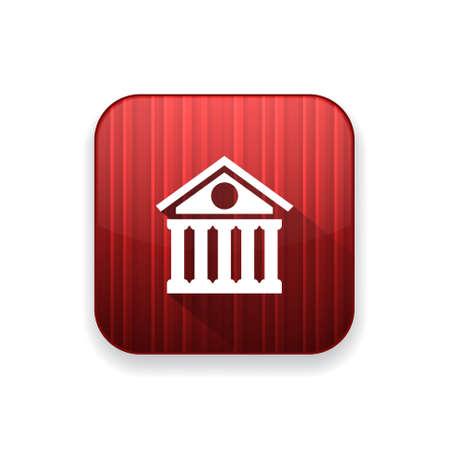 roman column: bank building icon