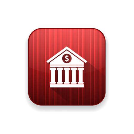 building: bank building  icon