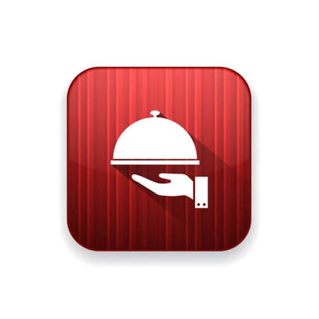 plate: covered plate  icon Illustration