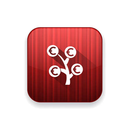 bank branch: money  tree   icon