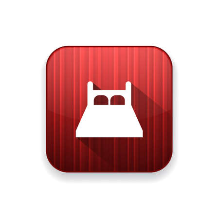 double bed: bed  icon Illustration
