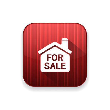 house for sale: for sale house  icon Illustration