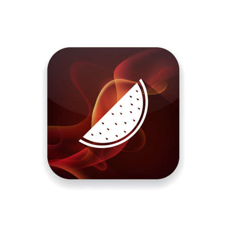 melon: water melon icon Illustration