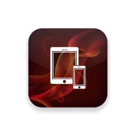smartphone: Tablet with smartphone icon