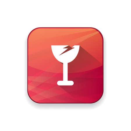 breakable: broken glass icon Illustration