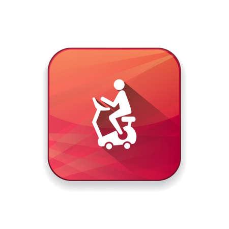 gymnasium: fitness bike icon Illustration