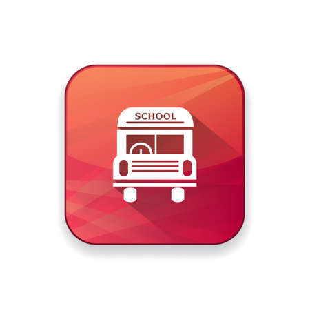 yellow schoolbus: school bus   icon