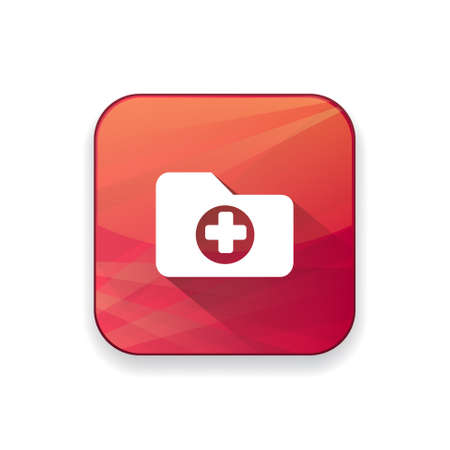 patient chart: medical folder icon