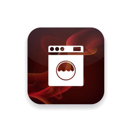 blue white kitchen: washer  icon