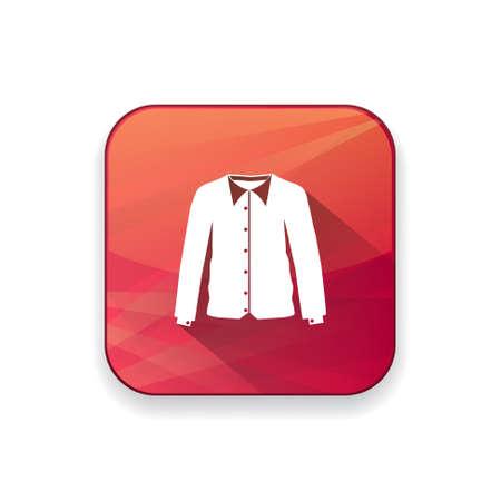 v�tements pli�s: chemise ic�ne Illustration