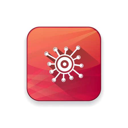 coronavirus: Virology  icon Illustration