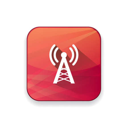 cell phone transmitter tower: radio tower  icon