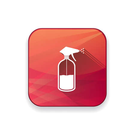 chemical cleaning: cleaner bottle  icon