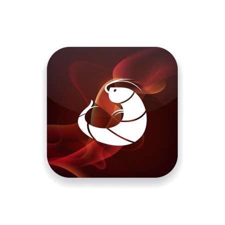 krill: shrimp  icon Illustration