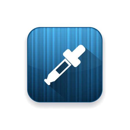 rubber tube: dropper icon