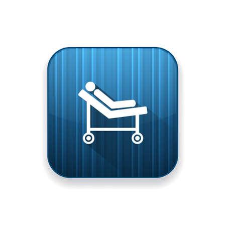 hospital trolley: hospital trolley icon
