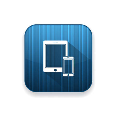 smartphone icon: tablet with smartphone icon