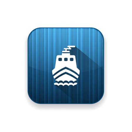 sea tanker ship: ship  icon Illustration