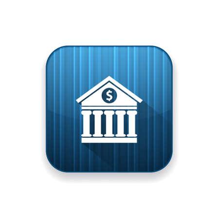 edificio banco: bank building  icon