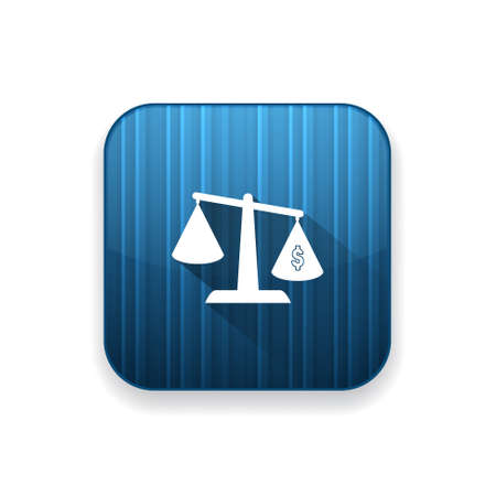 to weigh: dollar scale  icon
